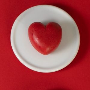 קינוח לב שוקולד ופטל