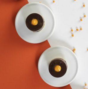 קינוח מוס שוקולד ותפוזים